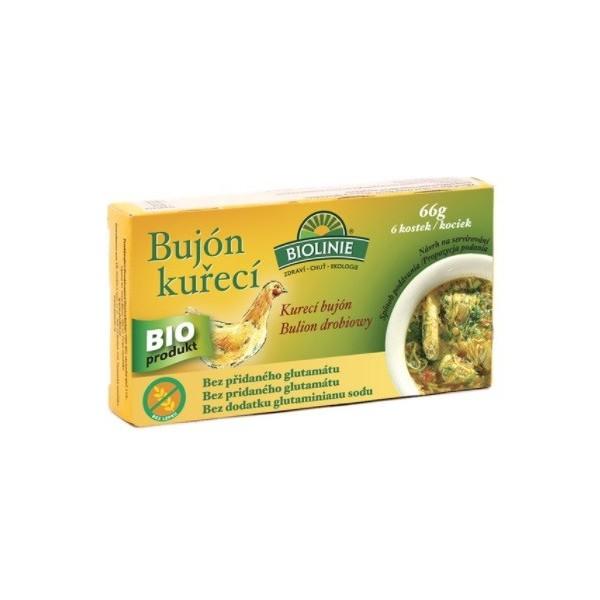 BIOLINE  Bujón kuřecí - kostky 6 x 0,5 l 66 g BIO