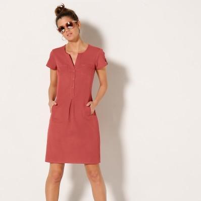 Jednobarevné bavlněné šaty