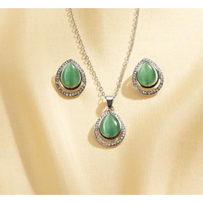 Zestaw biżuterii z opalem, 4 el.