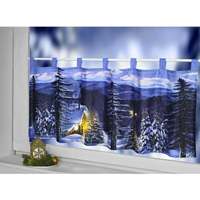 """LED záclonka """"Zimná dedina"""""""