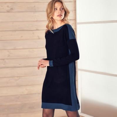 Pletené šaty s lodičkovým výstřihem