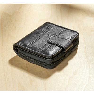 Patchworková kožená peňaženka