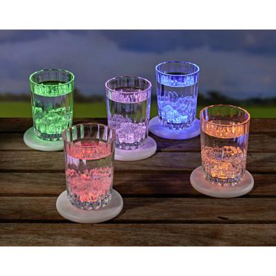 Podkładki LED, kolorowe