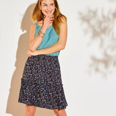 Volánová sukňa s potlačou