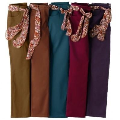 Nohavice+šatkový opasok,vn.dĺ.noh.78 cm