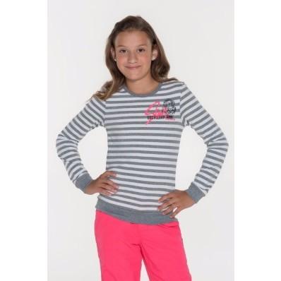 Dívčí pruhované triko s dlouhým rukávem