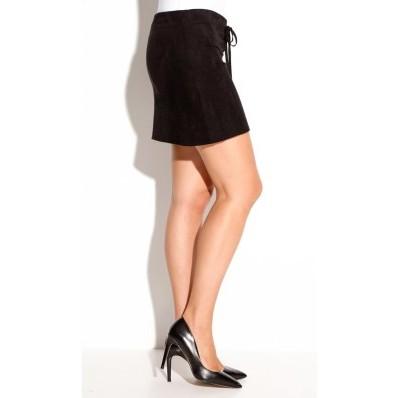 Ultra krátká sukně z imitace semiše