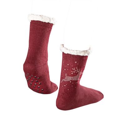 1 pár vánočních ponožek s nopky