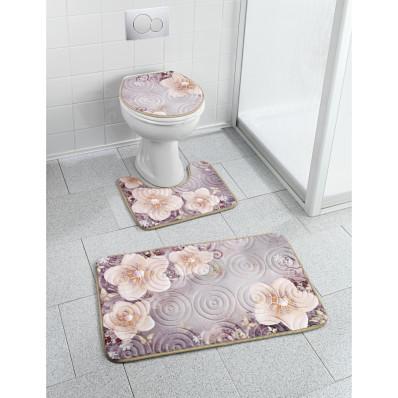 """3dílná koupelnová sada """"Vánoční růže"""""""