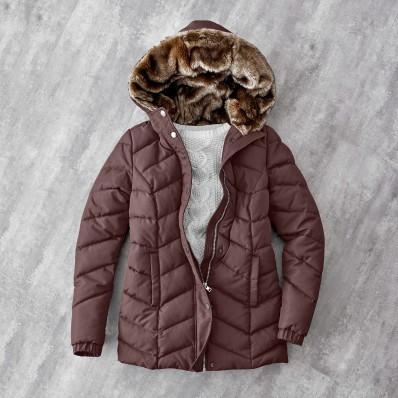 Krátka bunda s kapucňou