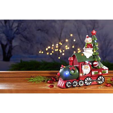 LED vianočný vlak s hudbou