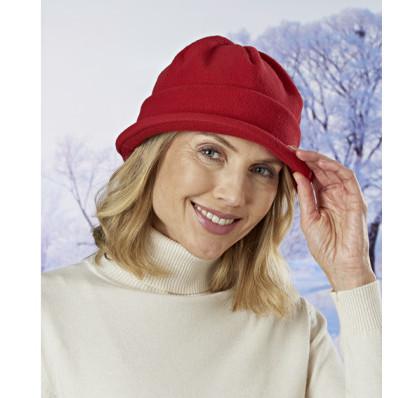 Caciula rosie din fleece