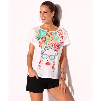 Tričko s tropickým designem