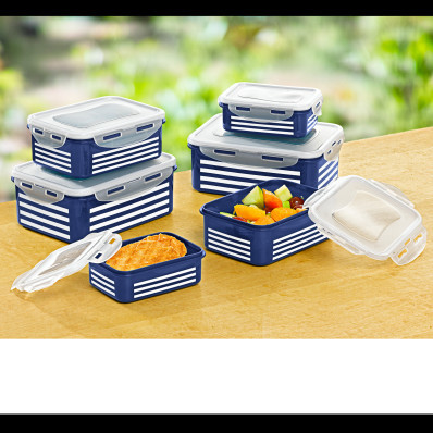 Ételtároló doboz Csíkok 12 db-os szett