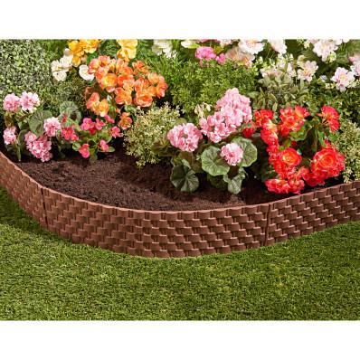 4-dielny flexibilný záhradný plot