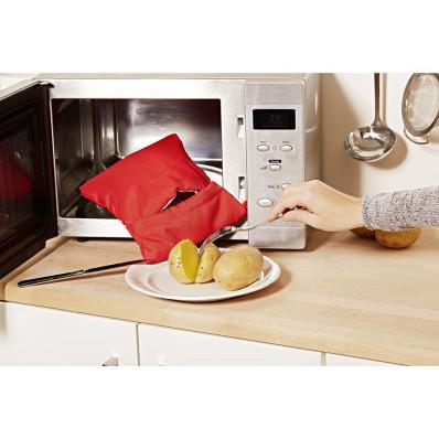 Punga pentru cartof. cuptorul cu microun