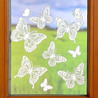 """10-dielny obraz na okno """"Motýle"""""""