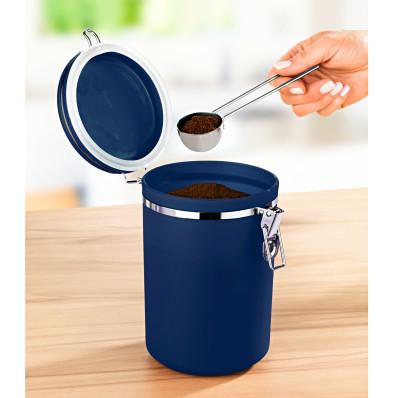 Cutie albastra pentru cafea