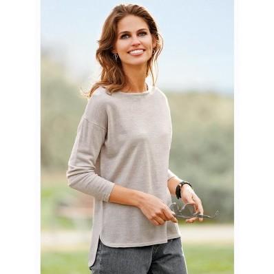 Jemný asymetrický pulovr