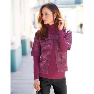 Trblietavý sveter paleto