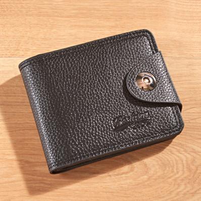 Męski portfel, czarny