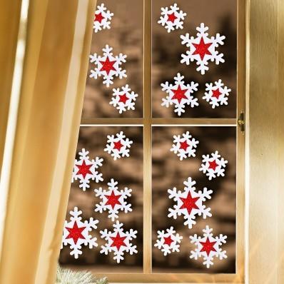 """Naklejki okienne """"Płatki śniegu"""", 18 cm"""
