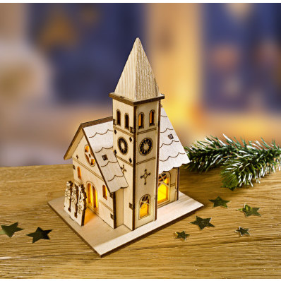 Ozdoba LED Wiejski kościół