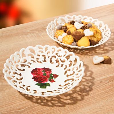 Ozdobny talerz Róże
