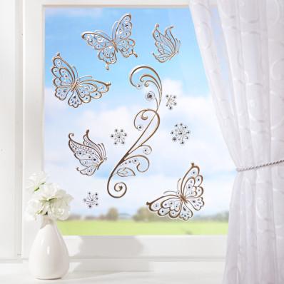 """10 obrázkov na okno """"Zlaté motýle"""""""