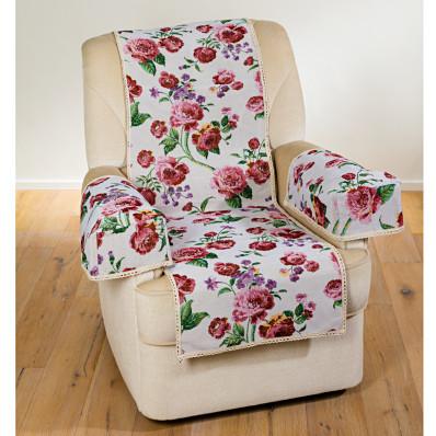 """Trzyczęściowa osłona na krzesło """"Kwiaty"""""""