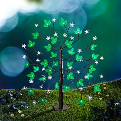 Solarne drzewko z kwiatami
