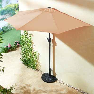 Półokrągły parasol, beżowy