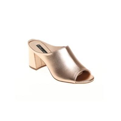 Třpytivé pantofle na podpatku