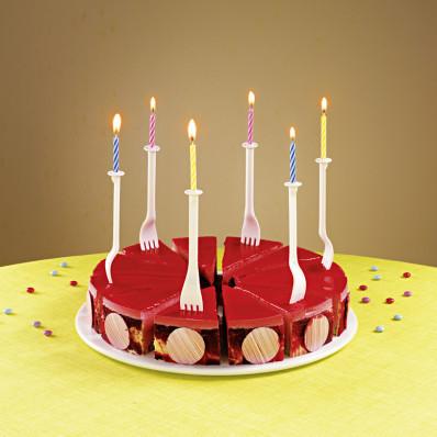 """12 držiakov sviečok """"Vidlička"""""""