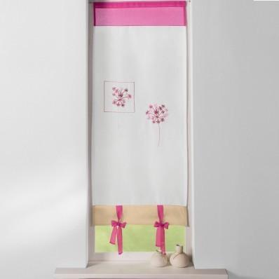 Záclona vitráž růžová