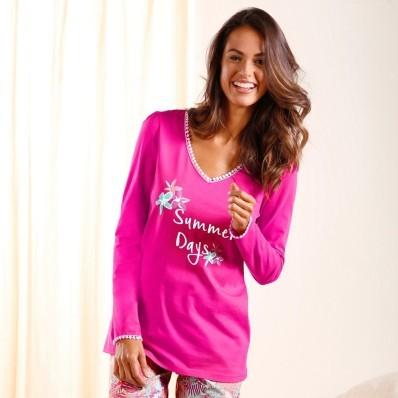 Pyžamové tričko s dlhými rukávmi