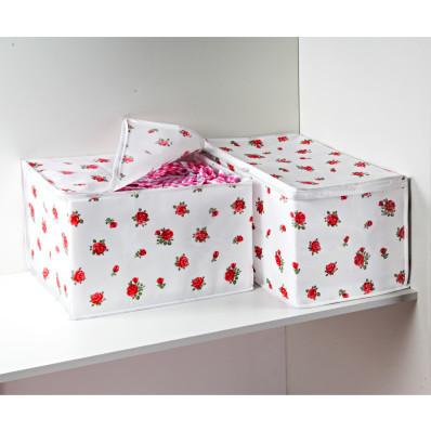"""Cutii de depozitare """"Trandafiri rosii"""""""
