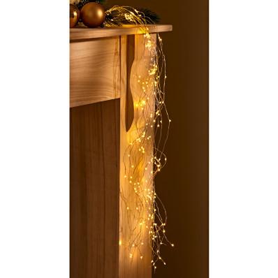 LED-es fényeső melegfehér fénnyel