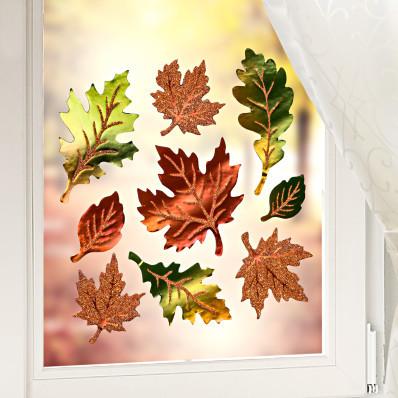 Puha ablakdíszek Őszi levelek