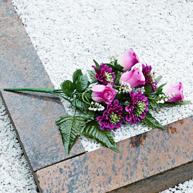 Ozdoba nagrobkowa Róże i Gerbera