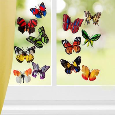 12 motýľov 3D