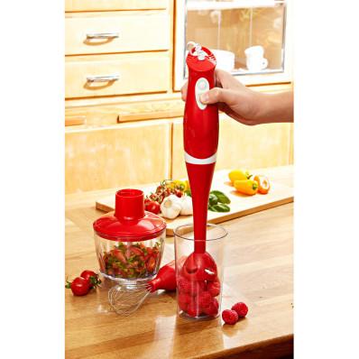 Mixer vertical 3-in-1 rosu