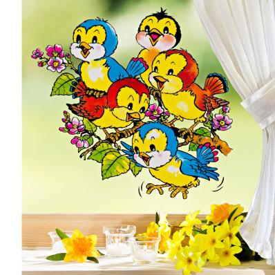 """Obrázek na okno """"Hejno ptáčků"""""""