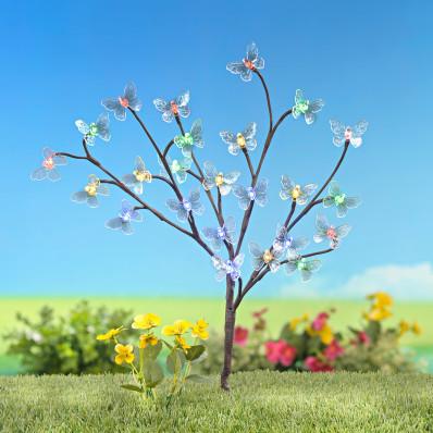 """Solární osvětlení """"Strom s motýly"""""""