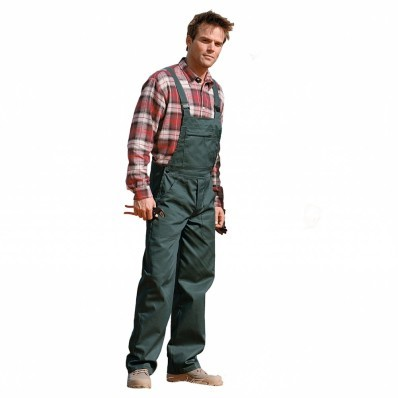 Pracovní kalhoty s laclem, 100% bavlna