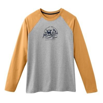 Pyžamové tričko s dlouhými raglánovými r