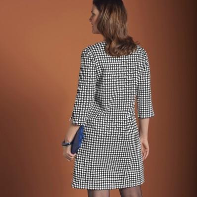 Šaty s potlačou kohútej stopy, Milano úp