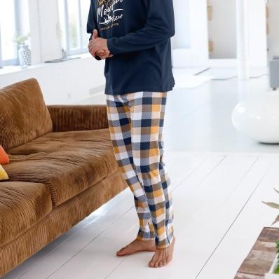 Pyžamové kalhoty, vzor kostky