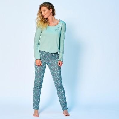 Pyžamové nohavice, jednofarebné alebo s