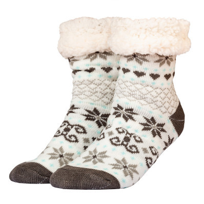 Csillagmintás téli zokni